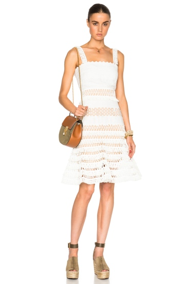Olivia Culpo macrame dress - The Luxe Lookbook