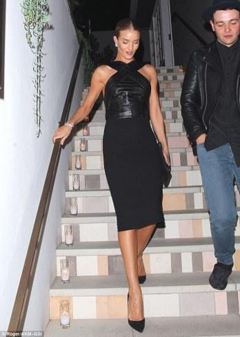 Rosie Huntington Whitely in black dress - Photo Roger-AKM-GSI - The Luxe Lookbook.jpg