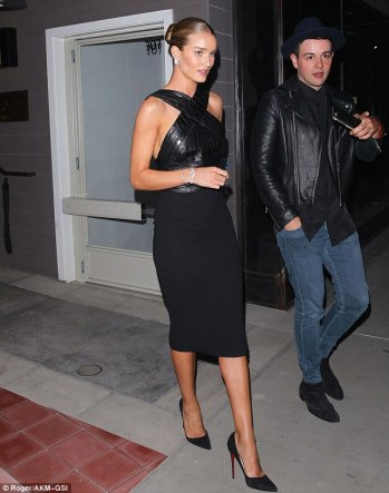 Rosie Huntington Whitely in black dress - Photo Roger-AKM-GSI - The Luxe Lookbook1.jpg
