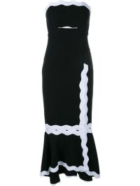 Tailor Hill Black and white strapless cutout dress - The Luxe Lookbook