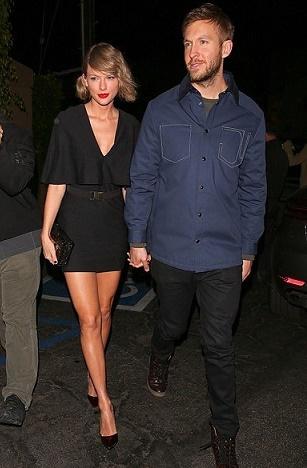 Taylor Swift in Cape Mini Dress - Photo AKM - GSI - The Luxe Lookbook.jpg