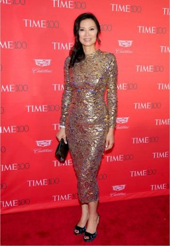Wendi Deng Murdoch at Time 100 Gala - Photo by Neilson Barnard - Getty Images - The Luxe Lookbook