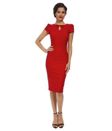 Emily Ratajkowski - Red pencil dress look for even less - The Luxe Lookbook