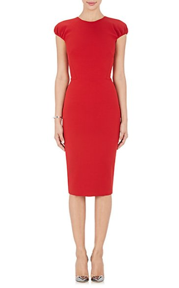 Emily Ratajkowski - Red pencil dress - The Luxe Lookbook