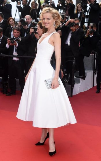 Eva Herzigova at premiere of The Unknown Girl- Photo credit Getty - The Luxe Lookbook