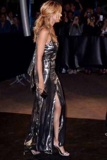 Heidi Klum in Metallic Silver - Photo credit FTN-FameFlynet.uk.com - The Luxe Lookbook
