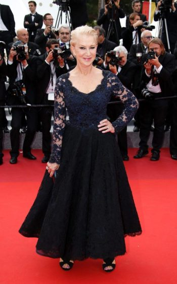 Helen Mirren in Dolce and Gabbana at premiere of The Unknown Girl - Photo credit REX - The Luxe Lookbook
