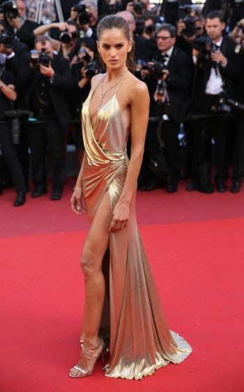 Izabel Goulart in Alexandre Vauthier at The Last Face premiere - Photo credit - Getty - The Luxe Lookbook