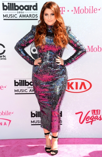 Meghan Trainor in Michael Costello - Photo credit Richard Shotwell - Invision-AP - The Luxe Lookbook