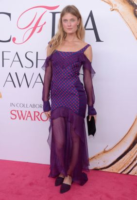 Constance Jablonski in J. Mendel at CFDA Awards 2016 - Photo credit - Getty Images - The Luxe Lookbook
