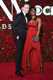 Erich Bergen and Patina Miller in J. Mendel - Photo credit-Getty - The Luxe Lookbook