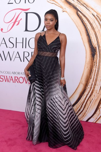 Gabrielle Union in Lela Rose at CFDA Awards 2016 - Photo credit - Getty Images - The Luxe Lookbook