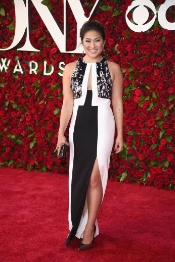 Jenna Ushkowitz in J. Mendel - Photo credit-Getty - The Luxe Lookbook