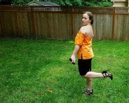 Luxe in Orange OTS Top - The Luxe Lookbook5