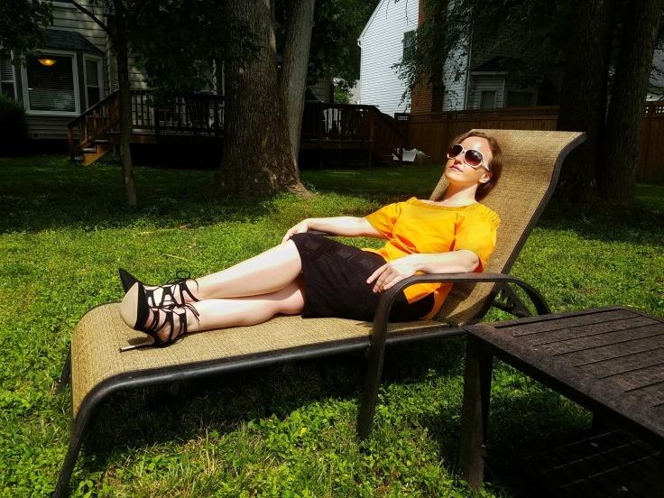 Luxe in Orange OTS Top - The Luxe Lookbook7