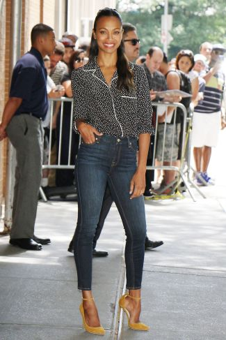 Zoe Saldana - Photo credit- Celebzee - The Luxe Lookbook