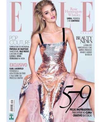 Rosie Huntington-Whiteley - Photo credit - David Bellemeare for Elle - The Luxe Lookbook