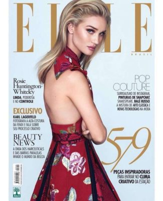 Rosie Huntington-Whiteley - Photo credit - David Bellemeare for Elle - The Luxe Lookbook2