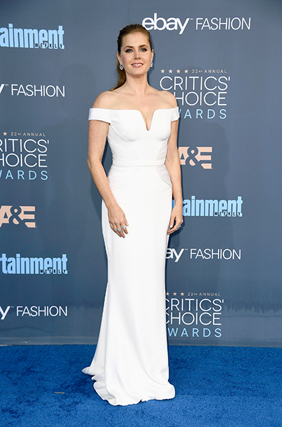 Amy Adams in white Versace gown at The 22nd Annual Critics' Choice Awards - Arrivals