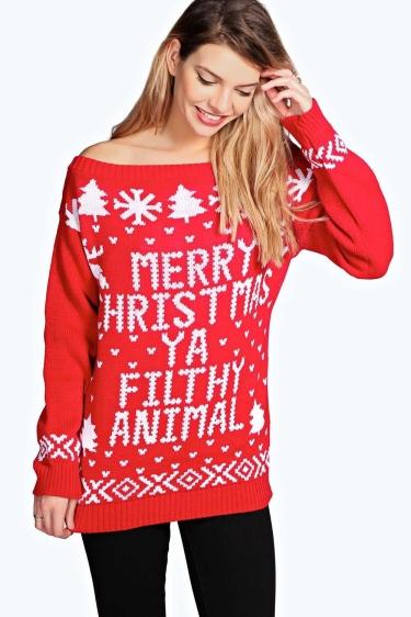 Boohoo Merry Christmas Sweater - The Luxe Lookbook.jpg