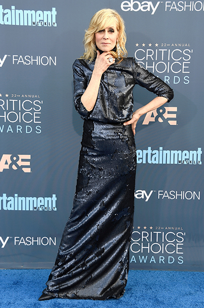 Judith Light in black gown at The 22nd Annual Critics' Choice Awards - Arrivals