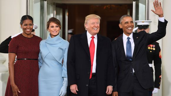 Obama and Trump Families - Jim Watson-AFP-Getty